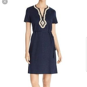 NWOT♡ TORY BURCH LILIANA SOUTACHE LINEN DRESS